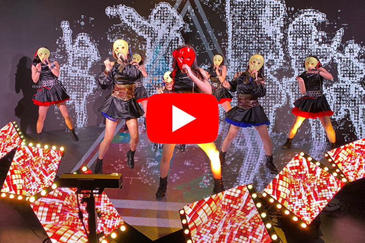 アイドルグループ・仮面女子のPV撮影に学生が参加した様子がこれ!