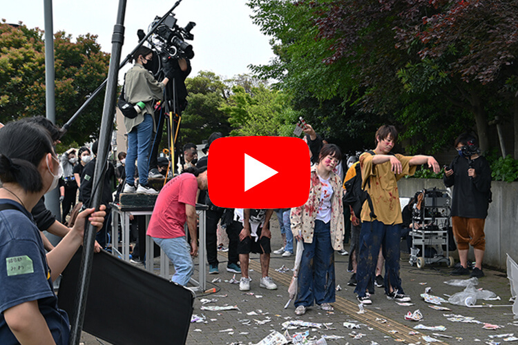 メイク専門学校とコラボで実施!ゾンビ映画「パンデミック」撮影の裏側を公開!