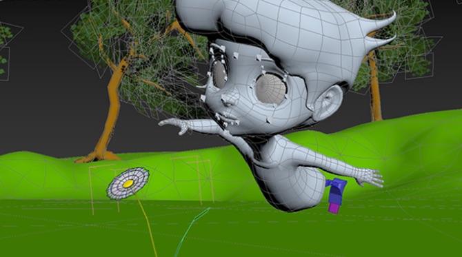 DCGを手描きアニメの質感にする「セルシェーディング」と呼ばれる技法を使用