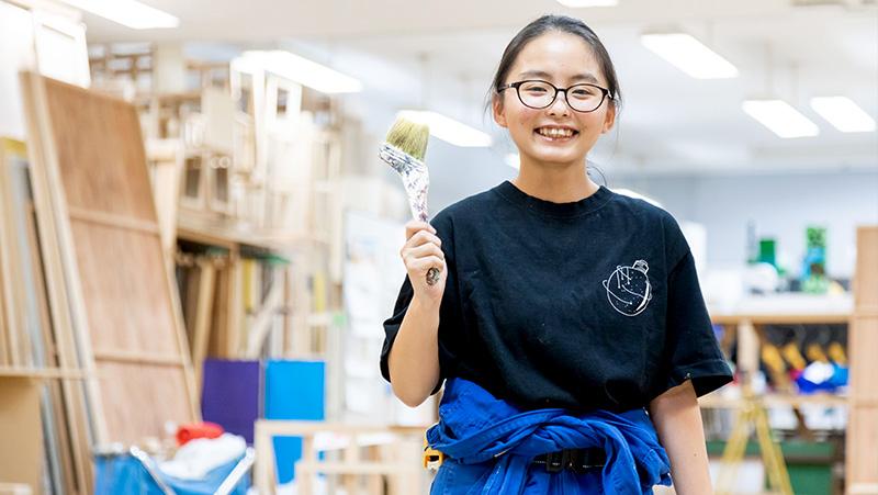 放課後も友だちとモノ作り。ここは毎日が文化祭のよう 須田あすかさん 福島県立須賀川高校 出身