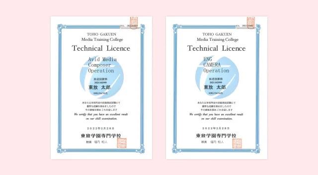 学内技能検定制度 TOHO License